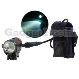 LusterFire P10 IPX-6 Водонепроницаемый L2 светодиодный свет велосипедов (черный)