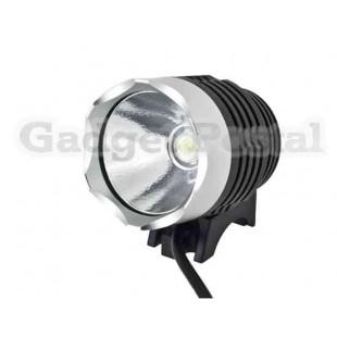 2 в 1 900-Lumen 3-Mode Белый свет водонепроницаемый светодиодный свет велосипеда и фар (черный)