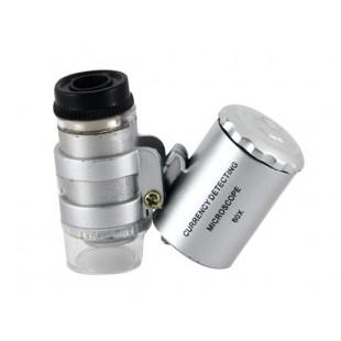 60 кратное увеличение  микроскоп с подсветкой