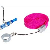 Шейный ремешок Ремешок с зажимом кольцо для электронных сигарет (розовый)