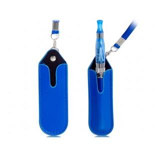 Искусственная кожа Защитный чехол на шею Ремешок для электронных сигарет (синий)