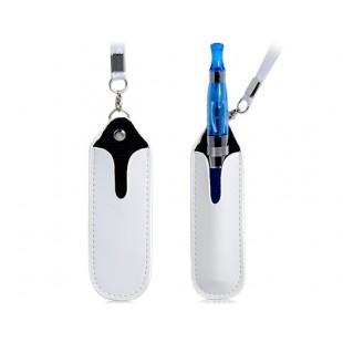 Искусственная кожа Защитный чехол с шеи Ремешок для электронных сигарет (белый)