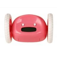 Будильник с двумя колесами (розовый)