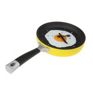 Инновационное украшение для стен: Часы сковорода (желтый)