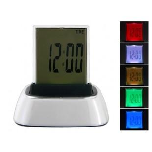 7-Изменение цвета светодиодные Gradient Будильник с таймером и термометр