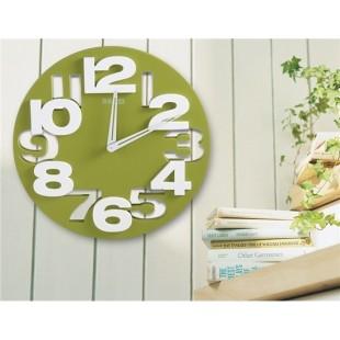 3D & Трафарет Марк Круглые часы (зеленый)