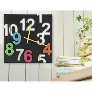 3D & Трафарет цифра Марко настенные часы (черный)