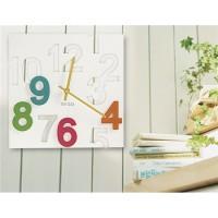 3D & Трафарет цифра Марко настенные часы (белый)