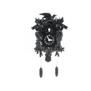Ретро стиль римская цифра Марк Кукушка настенные часы (черный)