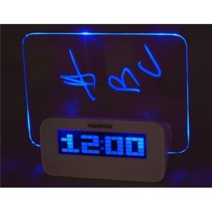 HotItem USB Powered голубой подсветкой Будильник с доски сообщений (белый)