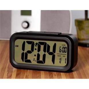 Светодиодный экран часов сигнализация с ночным видением (черный)