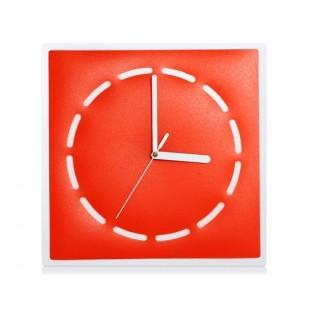Творческий Прямоугольный Mute Концепция настенные часы (красный)