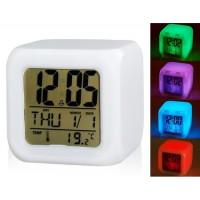 Купить Светящиеся светодиодные Night Light Изменение цвета цифровой будильник