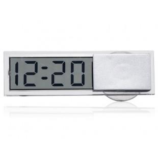 Прозрачные автомобильные часы на присоске