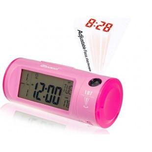 Проекционные звукоуправляемые часы Chaowei CW8097 (розовые)