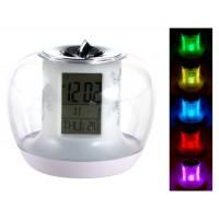 Творческий Яблоко Shaped светодиодный цифровой будильник с Изменение цвета