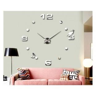 Зеркало Акриловые наклейки настенные часы