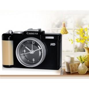 6605 Цифровая камера Дизайн Будильник (черный)