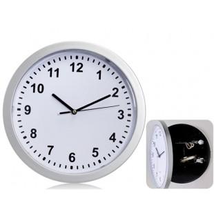 Творческая Настенные часы Настенные ящик для хранения (белый + серебро)