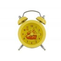 Купить Симпатичный мини портативный мультфильм Будильник (желтый)