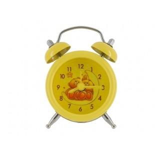 Симпатичный мини портативный мультфильм Будильник (желтый)