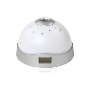Звездное ночное небо 7 Изменение цвета светодиодный проектор Будильник (белый)