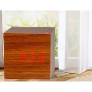Дерево Дизайн Деревянные часы Декоративные рабочего с функцией голосового управления (коричневый)