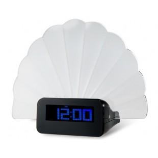 Многофункциональный Творческий Вентилятор Дизайн голубой подсветкой Форум Цифровые часы (синий)