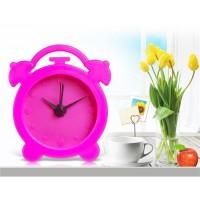 Купить Мини круглый силиконовый Будильник без масштаба времени (Красный)