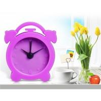 Купить Мини Круглый Силиконовый Будильник без временном масштабе (фиолетовый)