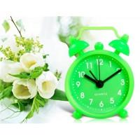 Купить Мини круглый силиконовый Будильник с временной масштаб (зеленый)