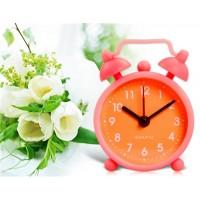 Купить Мини круглый силиконовый Будильник со шкалой времени (оранжевый)