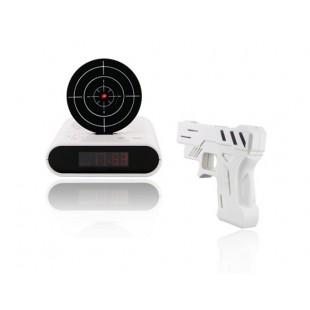 Super Cool Gun Будильник с пистолетом игре (белый)