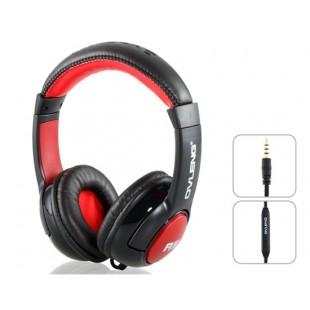 OVLENG A5 3.5 мм На уха Super Bass Наушники с микрофоном и 3,0 м кабель (черный)