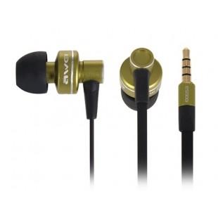 AWEI ES900i Разъем 3,5 мм наушники-вкладыши Стиль Плоские наушники кабель с 1,2 м кабель для MP3, MP4, ПК (зеленый)