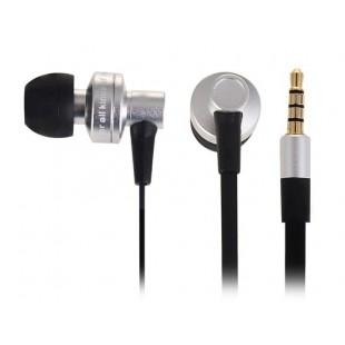 Стерео es900i-вкладыши Стиль плоский кабель наушник для MP3/MP4 плееров (черный)