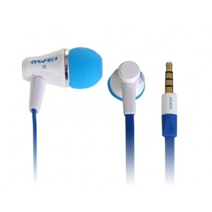 AWEI ES300i разъем 3,5 мм наушники-вкладыши Стиль наушники для MP3, MP4, ПК (синий и белый)