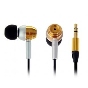 JBM MJ700 стерео-вкладыши наушники с микрофоном, регулятором громкости (Золотой)