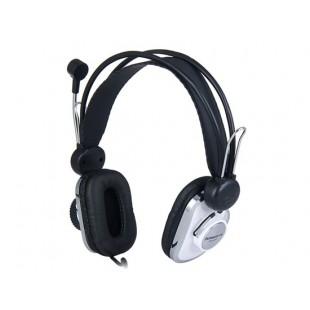 Км-630 3,5 мм 75 - 20 кГц проводной супер бас наушники с микрофоном (серебро)