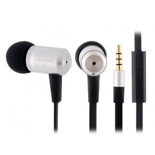 S100I стерео динамические наушники-вкладыши наушники с микрофоном (серебро)