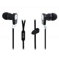 Купить Лэнгстон JM02 плоский кабель-вкладыши стерео наушники с микрофоном (черный)