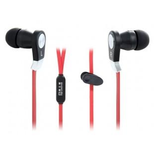 ЛЭНГСТОН JM02 плоский кабель наушники-вкладыши стерео наушники с микрофоном (Красный)