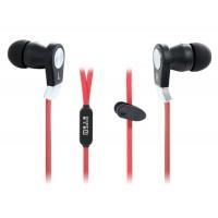 Купить ЛЭНГСТОН JM02 плоский кабель наушники-вкладыши стерео наушники с микрофоном (Красный)