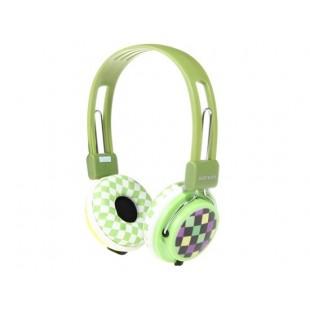 SONUN SN-B01 Plaid Pattern гарнитура (зеленый)