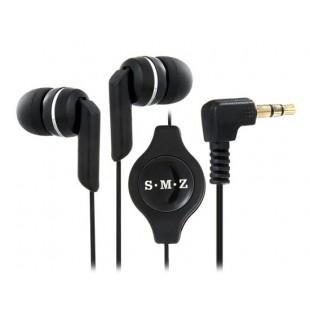 См-Q208MP 3.5 мм Джек в ухо стерео наушники с регулируемым кабель для MP3 плеер, iPhone, PC (черный)