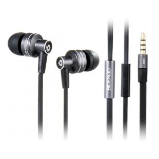 G350 3,5 мм Джек стиль плоский кабель стерео наушники с микрофоном (черный)