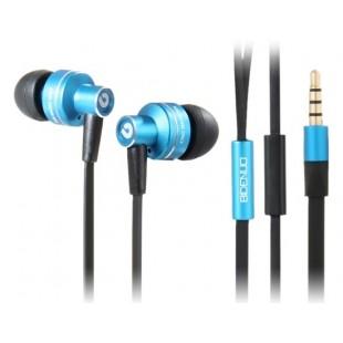 G350 3,5 мм наушники-вкладыши Стиль плоский кабель стерео наушники с микрофоном (синий)