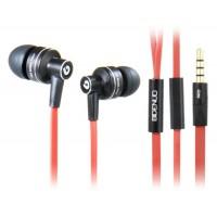 G350 3,5 мм наушники-вкладыши Стиль плоский кабель стерео наушники с микрофоном (красный)