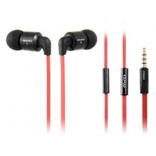 Стерео-ЭС-600I проводное управление в-ухо стерео наушники с микрофоном (черный)
