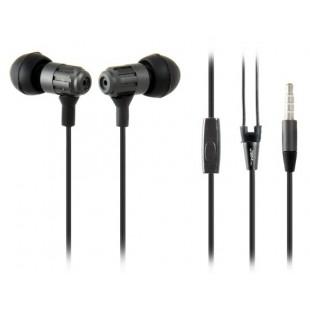 JBM MJ710 3,5 мм штекер в ухо наушник с пультом дистанционного управления и микрофоном (черный)